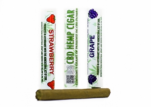 Paradise OG Cigar - Natural Organic Hemp Wrap - Pre Roll  3 Gram CBD Hemp Flower